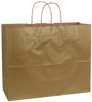 "Metallic Gold Tinted Shopper (VOGUE, 16"" x 6"" x 12"")"