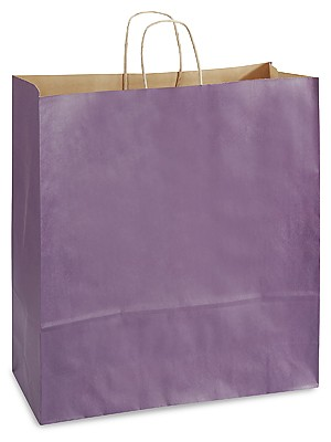 "Purple Tinted Shopper (QUEEN, 16"" x 6"" x 19""), 200 bags"