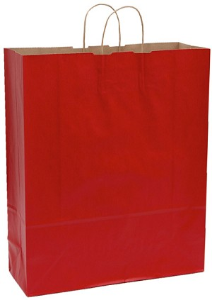 "Red Tinted Shopper (QUEEN, 16"" x 6"" x 19""), 200 bags"