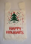 Happy Holidays T-Shirt Bags (12