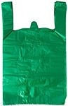 Green Colored T-Shirt Bags (12