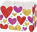 Glittering Hearts Basket Boxes (Large, 10.25