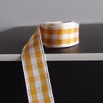 Gold Gingham Checkered Ribbon, 5/8