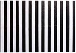Black Stripe on White Tissue Paper (20