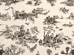 Black Toile Print on Ivory Tissue Paper (20