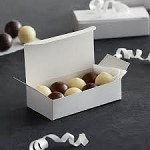 White Gloss Candy Boxes, 1/4# Box Size, (4.5