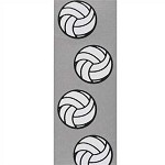 Volleyball, Set Spike Grosgrain Ribbon, 7/8