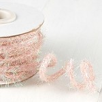 Iridescent Light Pink Wired Tinsel, 1/2inch x 10 yards