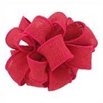 Fuchsia Burlap (Offray) Wired Ribbon, 1.5 inch x 25 yards