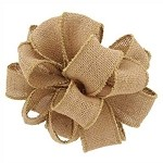 Natural Burlap (Offray) Wired Ribbon