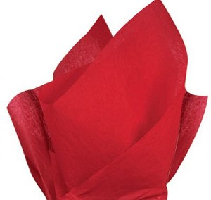 "Red Tissue Paper (20"" x 30"" per sheet)"