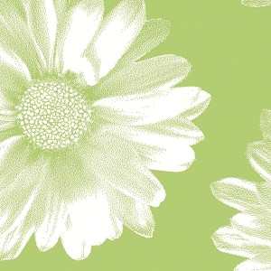 "Big Flower Green Printed Tissue Paper (20"" x 30"" sheets)"