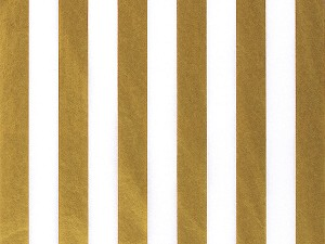 "Bold Stripes Gold Printed Tissue Paper (20"" x 30"" sheets)"