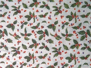 "Holly Toss Pearl Printed Tissue Paper (20"" x 30"" sheets)"