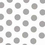 Large Dots Silver Printed Tissue Paper (20