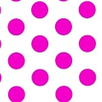 Large Dots Raspberry Printed Tissue Paper (20