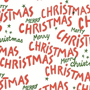 "Merry Christmas Printed Tissue Paper (20"" x 30"" sheets)"