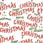 Merry Christmas Printed Tissue Paper (20