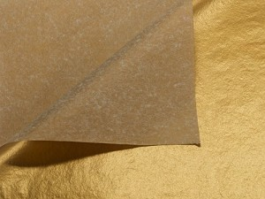 "Metallic Gold Printed Tissue Paper (20"" x 30"" sheets)"