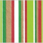 Christmas Stripes Printed Tissue Paper (20
