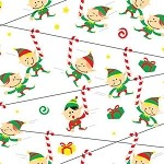 Zip Line Elves Printed Tissue Paper (20