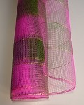 Hot Pink/Green Plaid Geo Mesh Mixer, 21